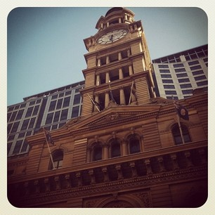 Old vs. new in Martin Place, Sydney