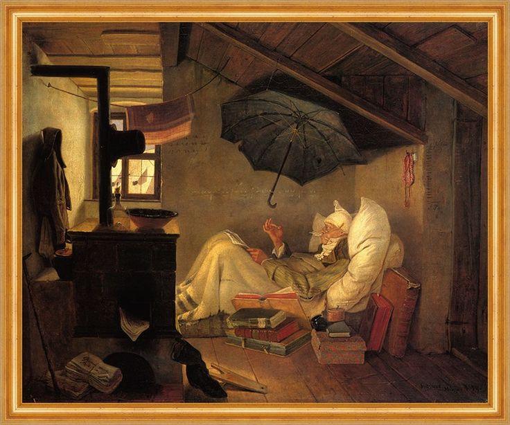 http://www.billerantik.de/products/Der-arme-Poet-von-Carl-Spitzweg-auf-Leinwand-gerahmt.html                              Franz Carl Spitzweg Der arme Poet   -   1839