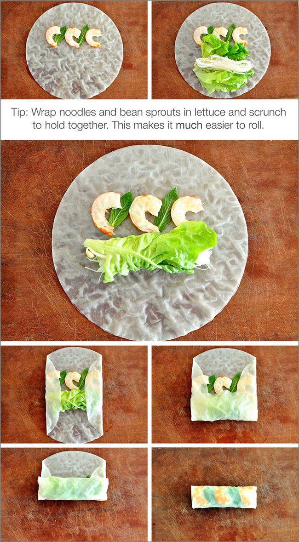 Methods of Vietnamese Rice Paper Spring Rolls