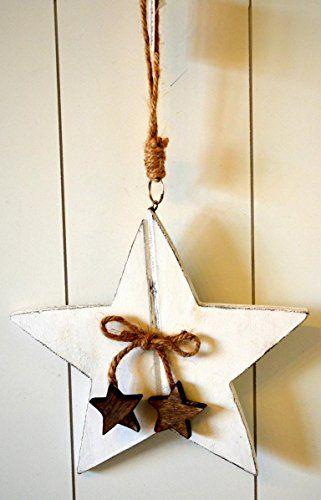 Stern Holzstern Holz ca 18cm weiß Weihnachtsdeko Baumschmuck Christbaumschmuck Türdeko Fensterdeko HKT Home Deco http://www.amazon.de/dp/B017703I4A/ref=cm_sw_r_pi_dp_X5Hqwb15FPWHV