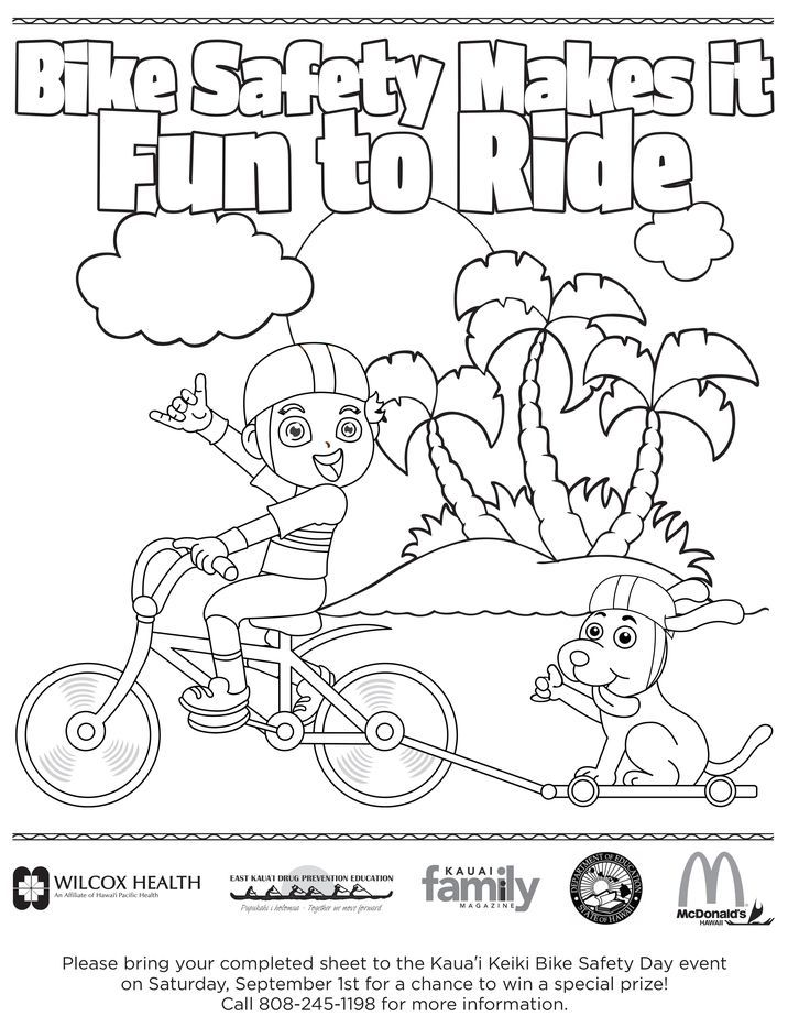 Bike Safety Coloring Pages 17 25 Best Ideas About Bicycle Safety