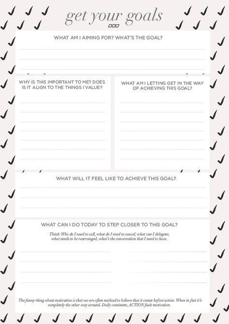 39 best Goal Setting images on Pinterest Productivity, Setting - smart goals template