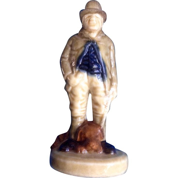 Vintage Wade Character Figure, Paddy Reilly, Irish Folk Song Porcelain Figurine Man with Dog