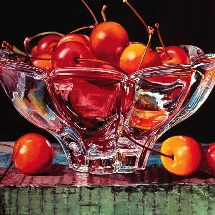 Learn how to paint glass with the colored pencil and watercolor art lessons that Soon Warren and Janie Gildow demonstrate in their videos.