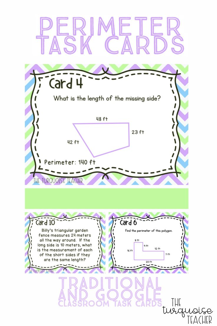 Great set of task cards for students to work on finding the perimeter of polygons. A nice mixture of levels and questions. Words problems make the students dig deep to find the missing measurements! Use them as a scoot game, in stations, small groups or