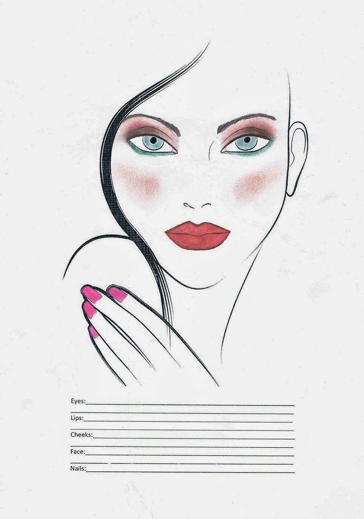 Projekt makijażu ślubnego. #faceChart, #makijaż, make up