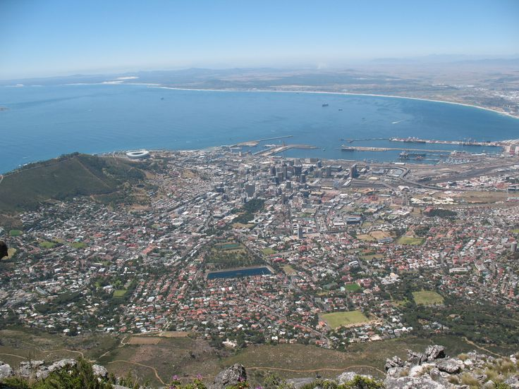 Aerial View of Cape Town City Bowl