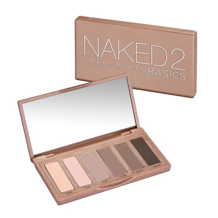 Urban Decay Naked2 Basics Eyeshadow Palette $29 (2014) What You Get: Skimp (pale nude satin), Stark (nude-pink matte), Frisk (warm gray matte), Cover (muted red-brown matte), Primal (muted brown matte) and Undone (deep, smoky brown matte).