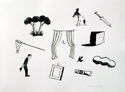 Sueño I, 2007, gouache/papel, 56x76 cm.