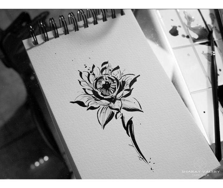 Evil lotus tattoo for girls. #valerysharay