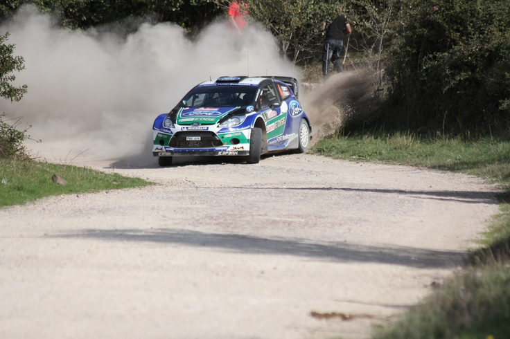 Petter Solberg drifting on gravel - Wrc Sardinia 2012