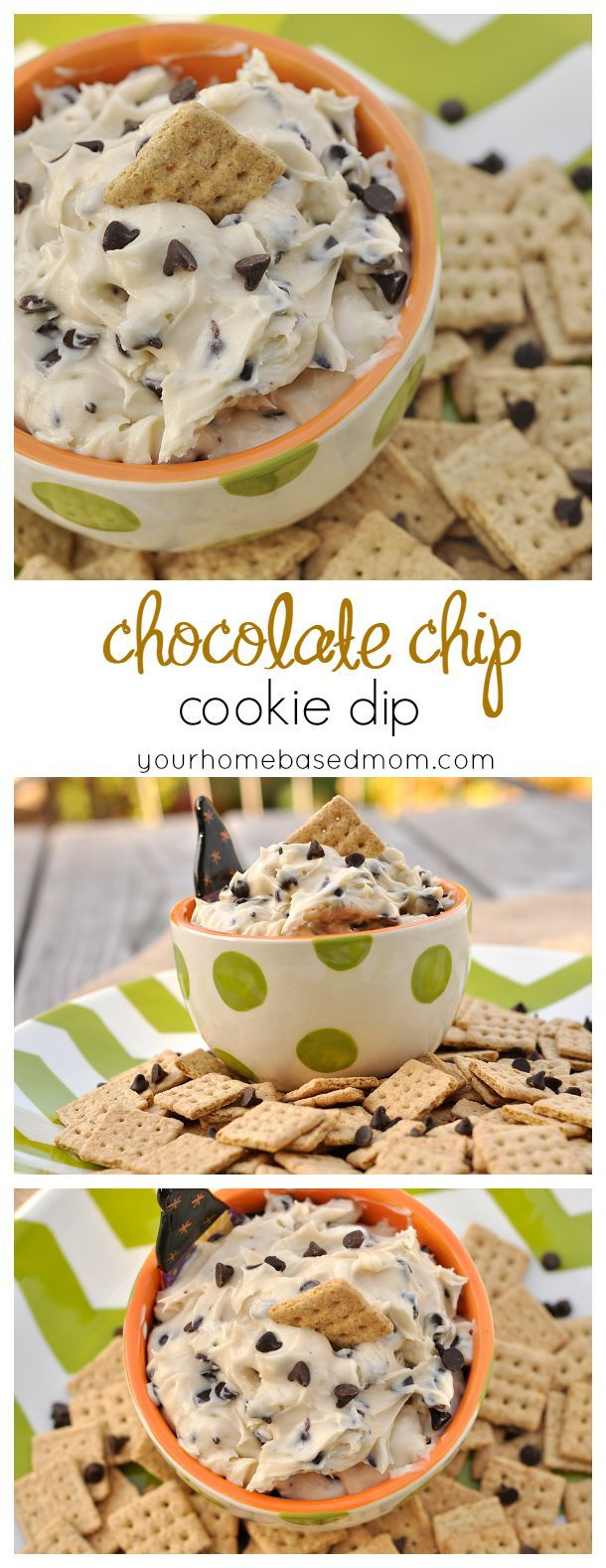This Chocolate Chip Cookie Dip is addicting!  You are not going to be able to stop eating it.