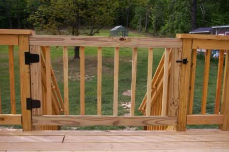 Deck Gates for Dogs | Now the pups can go out unsupervised and bark at things and we don't ...