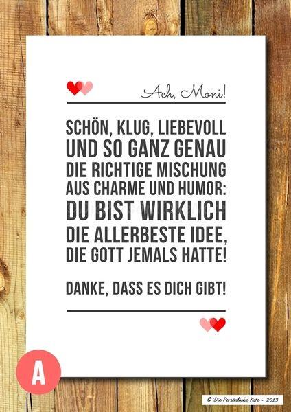 Druck/Wandbild/Print: Liebeserklärung für die Wand von Die Persönliche Note auf DaWanda.com