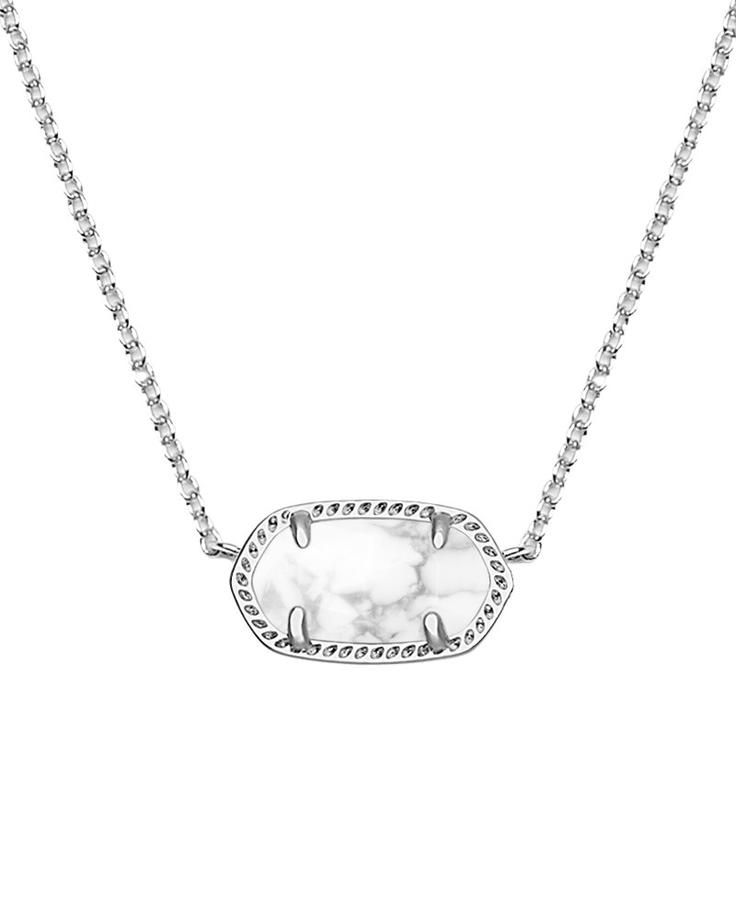 Elisa Pendant Necklace in White Howlite - Kendra Scott Jewelry