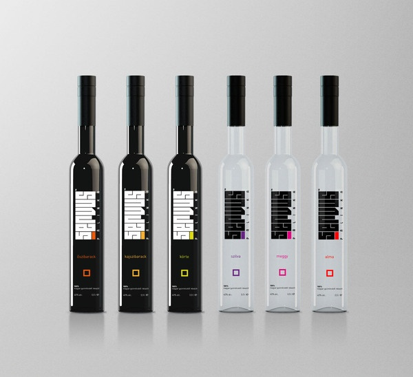 Servus™ palinka corporate identity by Attila Horvath, via Behance