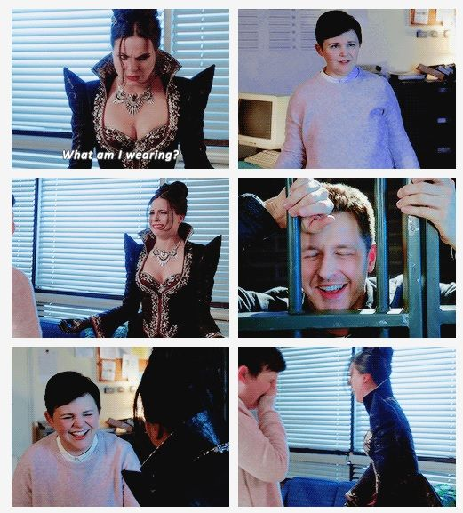 Regina and the two idiots. Such a great scene