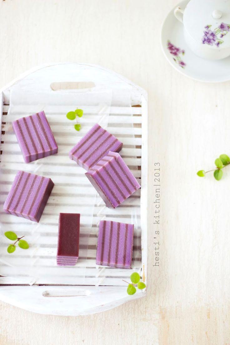 HESTI'S KITCHEN : yummy for your tummy: Lapis Beras Ubi Ungu