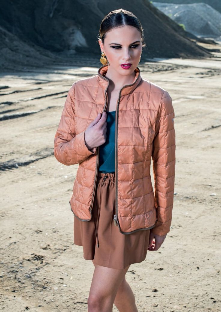 Do you desire a perfect clothing for every occasion? So this is the right down jacket!  It is light, semi shiny with eco leather pipings and made of nylon. It will give a colorful and original touch to your outfit!    #jacket #eiderdowns #downjacket #women #girl #newcollection #spring #summer #fashion #fashionstyle #italianstyle #fashionwoman #cool #clothes #jackets #musthave #blazer #pinterest #followus