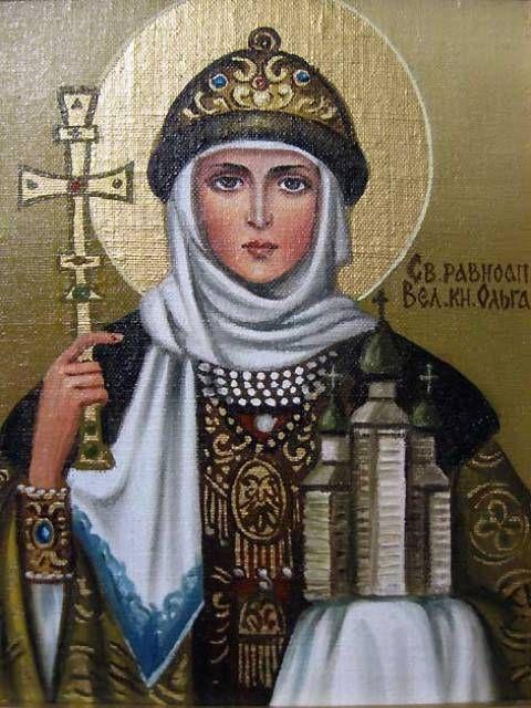 Св.княгиня Ольга (холст,масло) - художник Ядвига Сенько