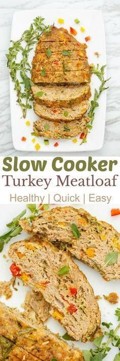 Slow Cooker Turkey M Slow Cooker Turkey Meatloaf |...  Slow Cooker Turkey M Slow Cooker Turkey Meatloaf | thecookiewriter.com | Kacey @ The Cookie Writer | #sponsored | Comfort foods completed right in your crock pot?! Healthy recipes for families who are craving meat but dont want all the negative connotations. Ground turkey instead of beef is used here and you can use gluten-free breadcrumbs to make the recipe Celiac-friendly! Perfect for back-to-school or summer days where you dont want…
