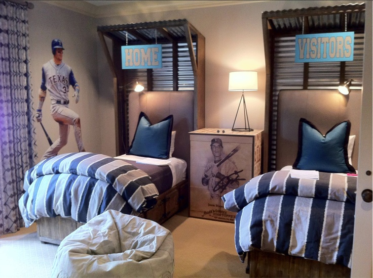 Boy s bedroom   baseball theme64 best Baseball Room images on Pinterest   Alcove  Artwork and  . Baseball Bedroom. Home Design Ideas