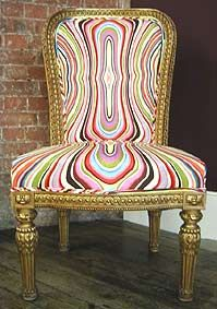 Fashion designer Paul Smith's revamp of an antique chair.