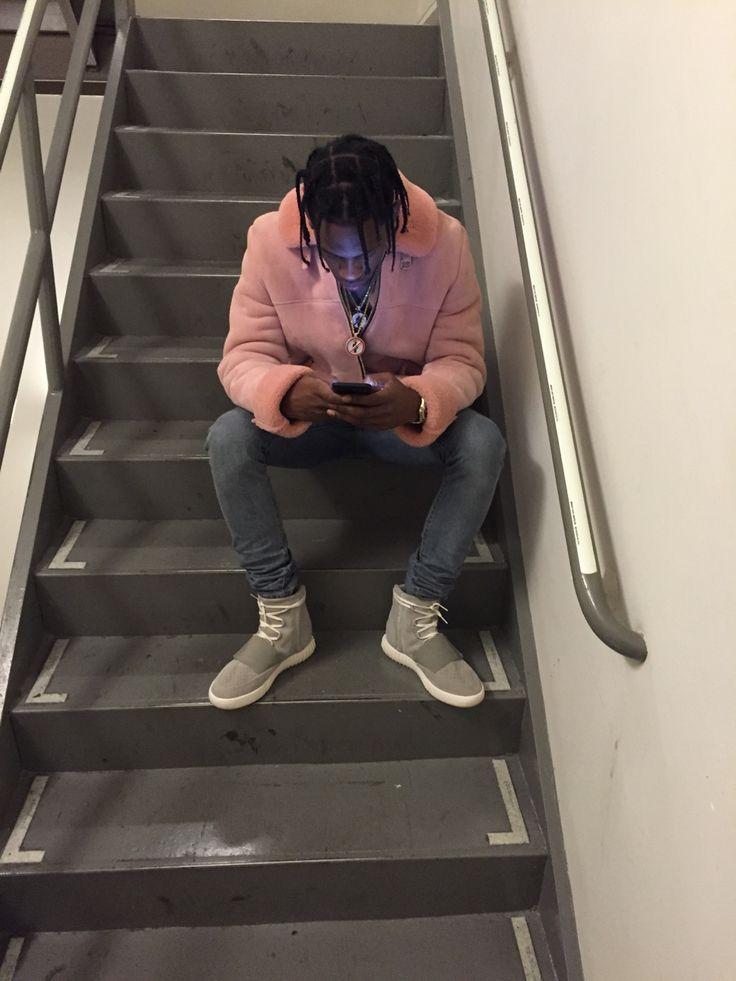 Travis Scott, Hip Hop Glam x Pink Coat