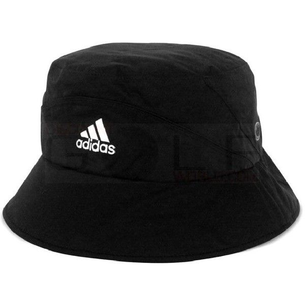 Adidas Storm Bucket Cap ($45) ❤ liked on Polyvore featuring accessories, hats, headwear, black, black bucket hat, waterproof hat, fishing hat, black cap and caps hats