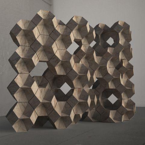 daniel widrig - hexagon room divider