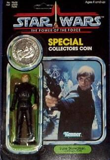 Power Of The Force - Previously Released Figure With Coin - Luke Skywalker (Jedi Knight)