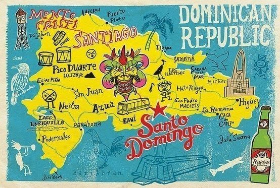 dominican republic travel posters north american