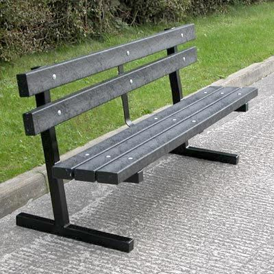 Eco-Rest™ Seat is robust and economical with recycled slats and a sturdy steel frame. #Seating #Seat #RecycledMaterial #GlasdonUK