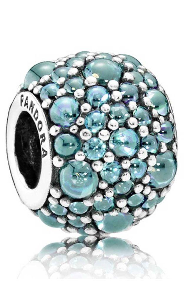 Abalorio Pandora plata Gotas Brillantes 791755MCZ