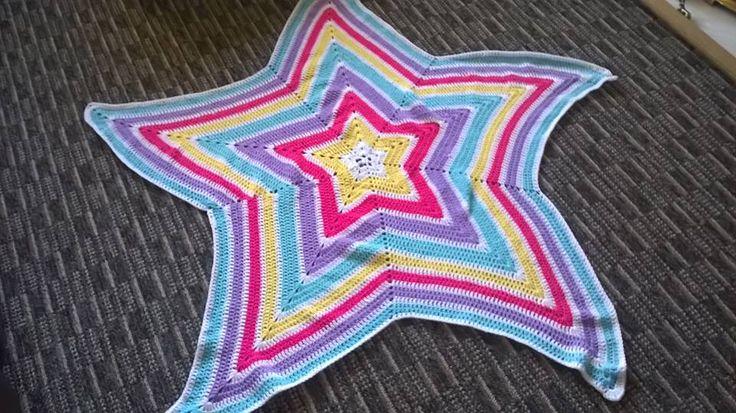 Crocheted Star Blanket