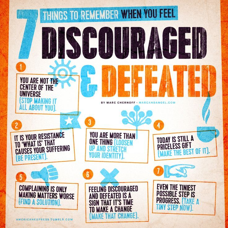 The worst enemy to productivity and creativity is self-pity. - read: http://www.marcandangel.com/2015/03/15/7-things-to-remember-when-you-feel-discouraged-and-defeated/