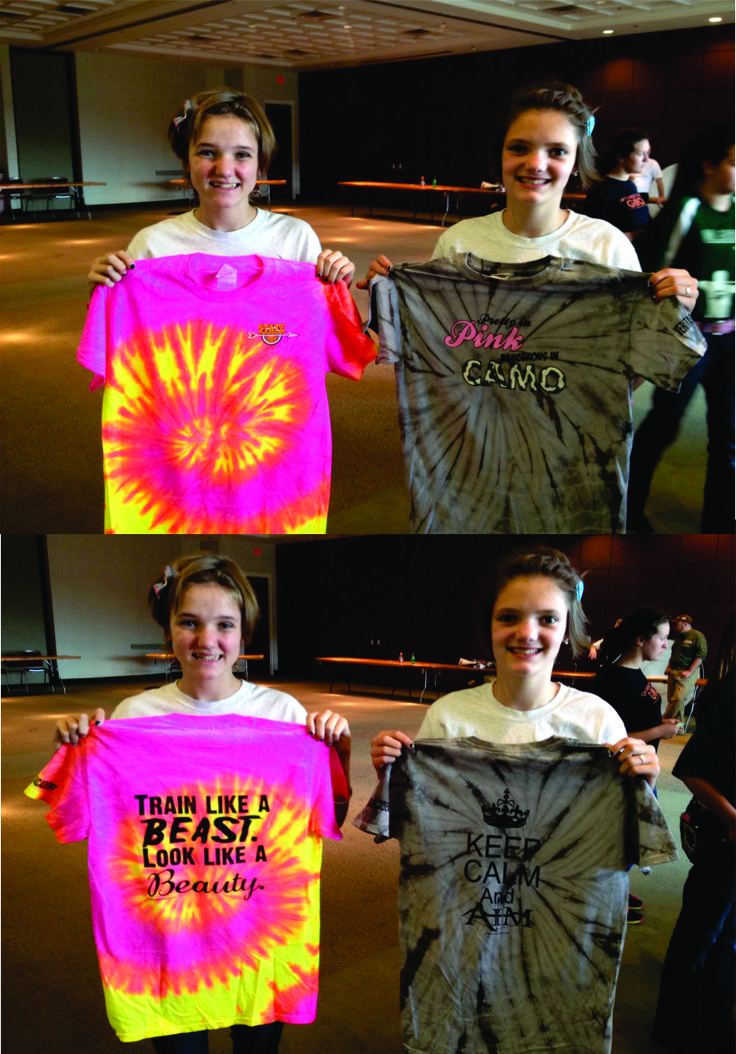 Eagle Sportz on-site printing at the National Archery in the Schools State Tournament. Awesome custom shirts, girls!