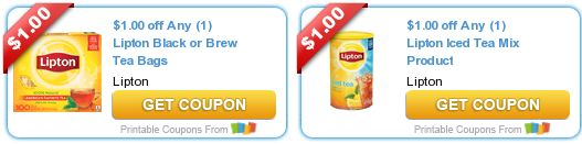 FIVE Lipton Tea Products for FREE at Homeland!