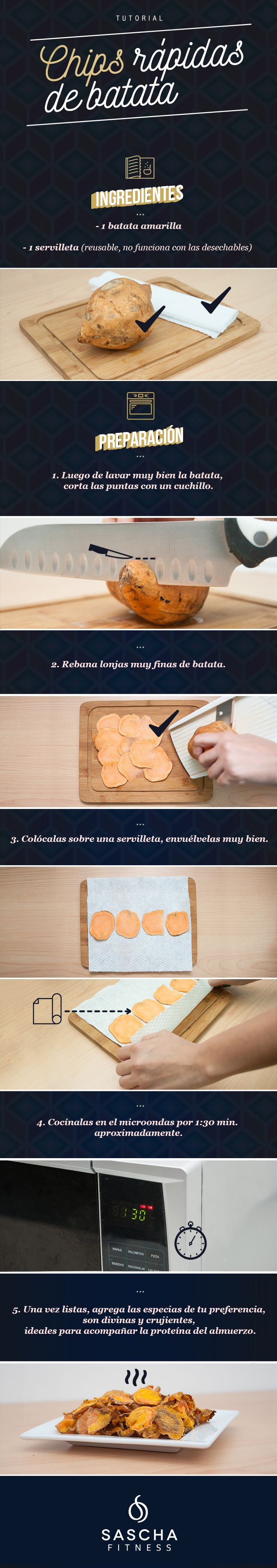 Tutorial: chips rápidas de batata - Sascha Fitness