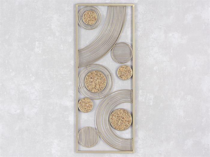 Amazing WAND DEKO Sahara I aus Metall mit Steinen Breite cm H he cm gold