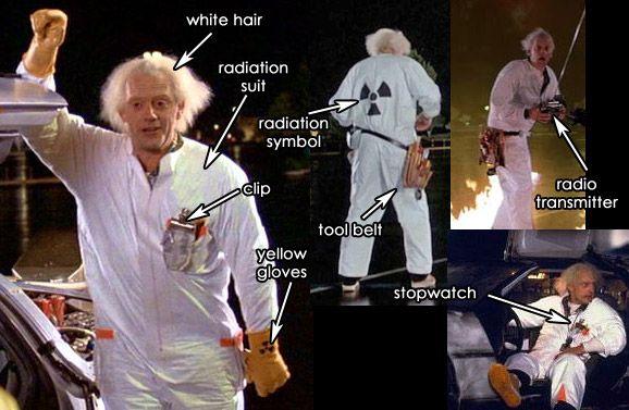 Doc Brown Costume - Radiation Suit BTTF Part 1