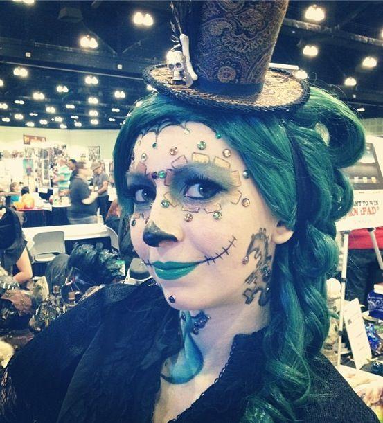 Steampunk Dia de los Muertos makeup!