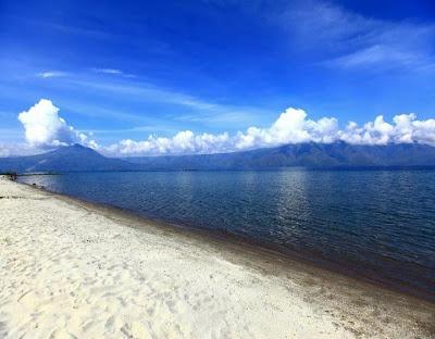 White Sand Beach on the Lake Toba