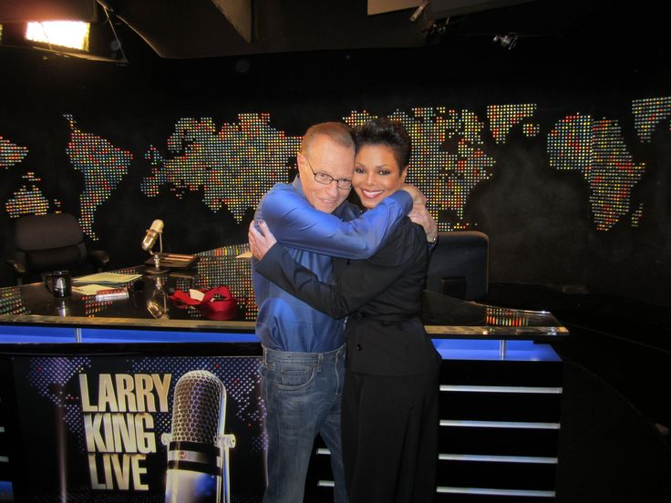 Janet and Larry King in 2010.