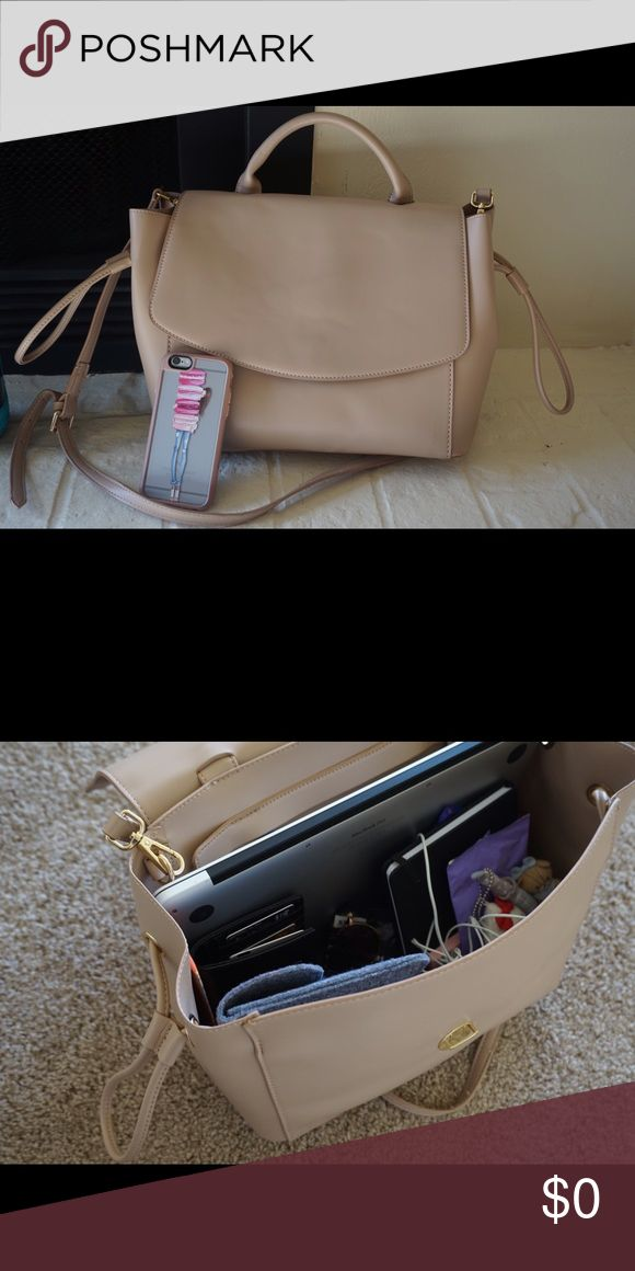 Blush handbag Gorgeous satchel style handbag. Fits a laptop and everything you need to carry 😍 very easy and comfortable to carry. Oh so stylish. The perfect bag ❤️ in perfect condition , used for less than a month. need a new home to be loved. Zara Bags Satchels