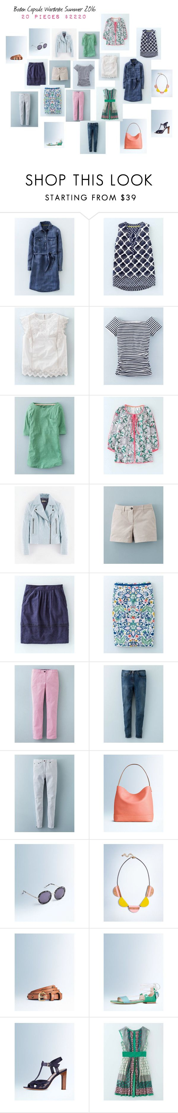 """""""Boden Capsule Wardrobe Summer 2016"""" by juliffthegirl ❤ liked on Polyvore featuring Boden"""