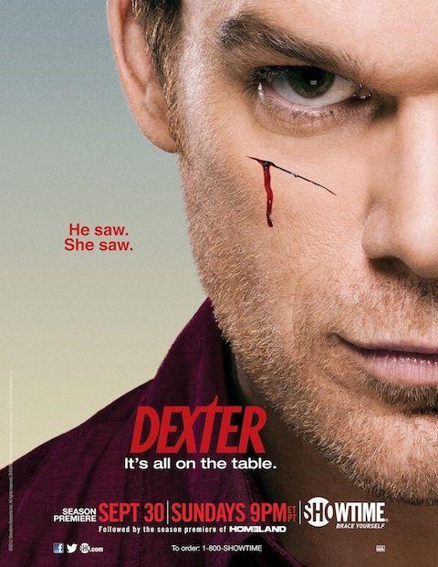 Dexter Season 7 Poster: He Saw. She Saw.