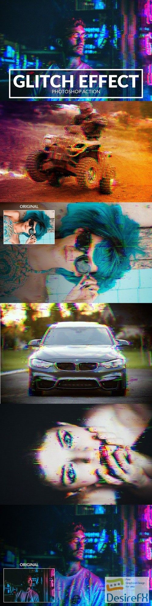 Glitch Photoshop Action 2273479