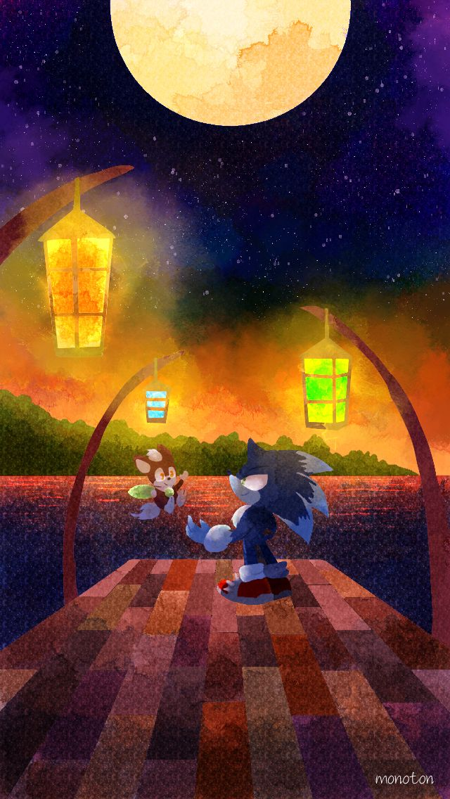 Werehog Sonic and Chip
