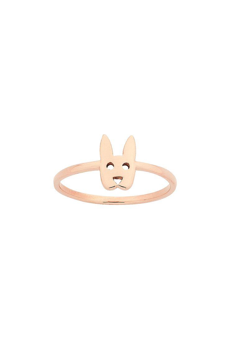 Mini Rabbit Ring Rose Gold - KW173R_9RG - All Jewellery | Karen Walker